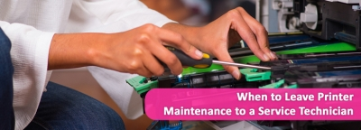 When to Leave Printer Maintenance to a Service Technician
